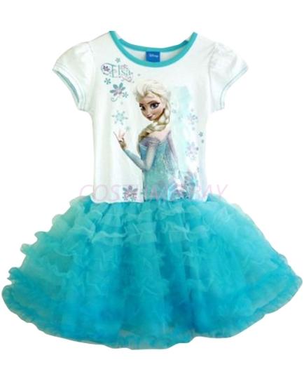 Picture of Frozen Princess Elsa Tutu Cake Dress