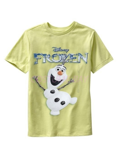 Picture of Kids Short Sleeves Frozen Olaf T Shirt Yellow