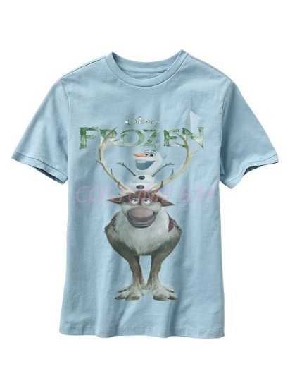 Picture of Kids Short Sleeves Frozen Sven T-Shirt Blue 1