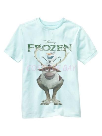 Picture of Kids Short Sleeves Frozen Sven T Shirt Blue 2
