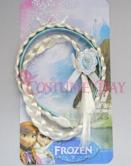 Picture of Frozen Princess Elsa Tiara Headband Wig