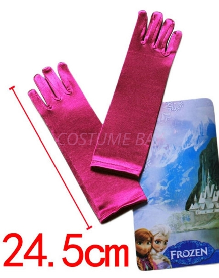 Picture of Frozen Princess Anna fuchsia Gloves