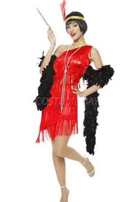 Picture of 1920's Charleston Flapper Dress - Red