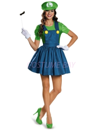 Picture of Brothers Plumber Mushroom Nintendo Costume - Super Luigi