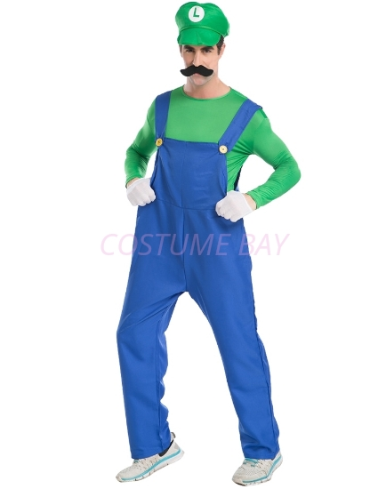 Picture of Super Mario Bros Mens Costume Luigi