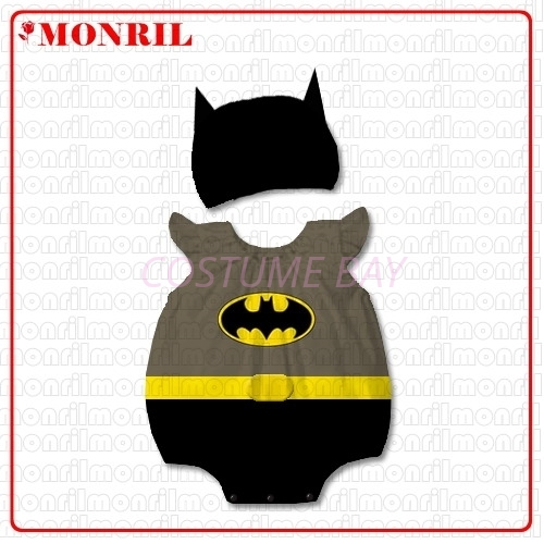 Picture of Baby Rompers Onesie Bodysuit with Hat - Batman