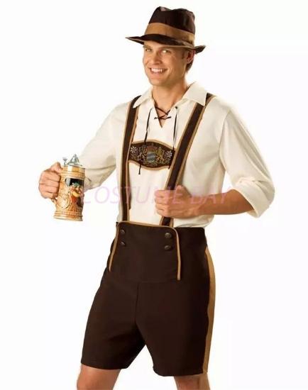 Picture of Bavarian Guy Mens Lederhosen Costume