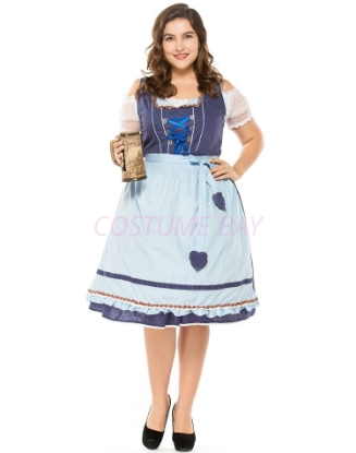 Picture of Ladies Oktoberfest Bavarian Beer Maid Costume PLUS SIZE NEW ARRIVAL