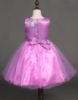 Picture of Girls Floral Formal Wedding Bridesmaids Flower Dress  -Purple
