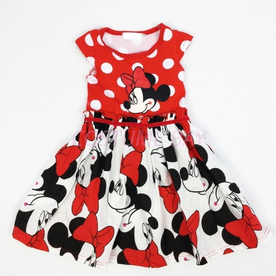 Picture of Girls Minnie Mouse Polka dots Party Tutu Princess Dress Book Week