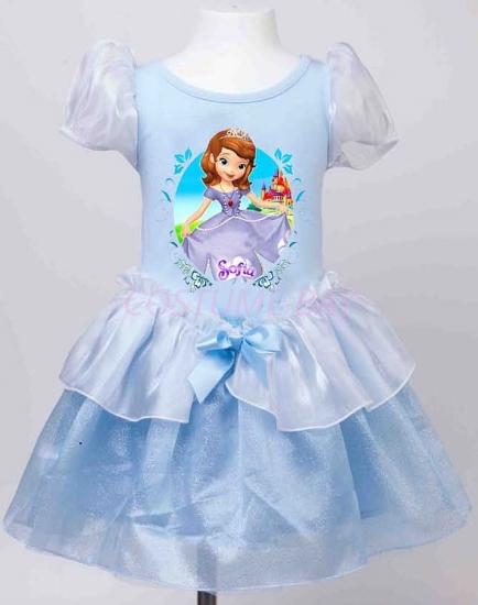 Picture of Girls Sofia Princess Dress -Blue