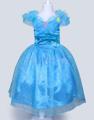 Picture of Girls Cinderella Fancy Princess Dress -Blue