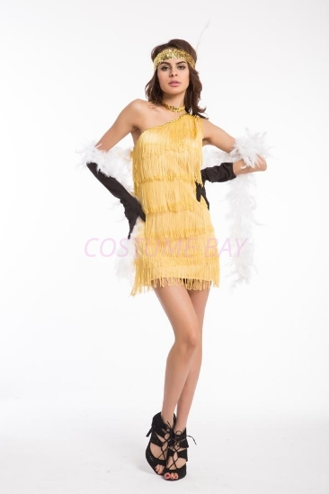 Picture of 1920's Charleston Flapper Dress - Gold