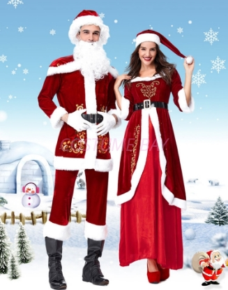 Picture of Deluxe Mr Santa Claus Suit Christmas Mens Costume