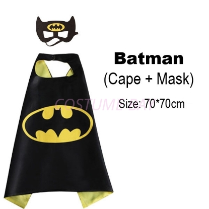 Superhero Kids Cape /& Mask Costume Party Set AU