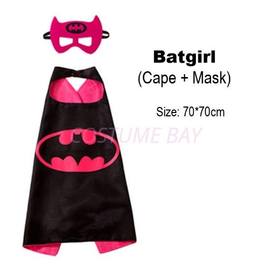 Picture of Kids PJ Superhero Cape &  Mask Set - Batgirl