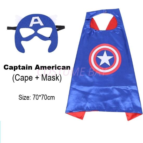 Picture of Kids PJ Superhero Cape &  Mask Set - Captain America