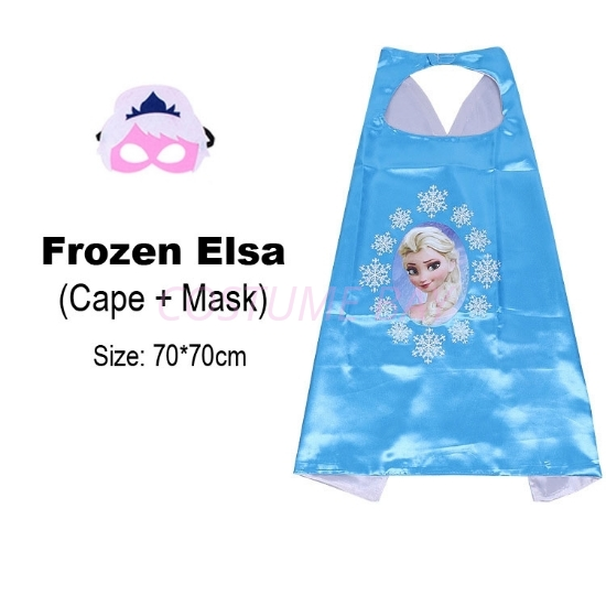 Picture of Kids PJ Superhero Cape &  Mask Set - Princess Elsa