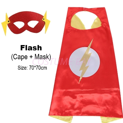Picture of Kids PJ Superhero Cape &  Mask Set - Flash