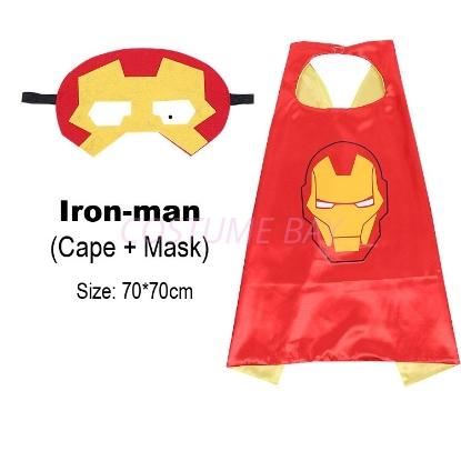 Picture of Kids PJ Superhero Cape &  Mask Set - Iron-man