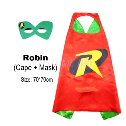 Picture of Kids PJ Superhero Cape &  Mask Set - Robin