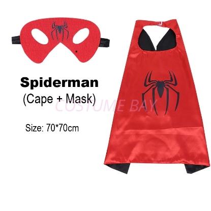 Picture of Kids PJ Superhero Cape &  Mask Set - Spiderman