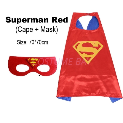 Picture of Kids PJ Superhero Cape &  Mask Set - Superman Red