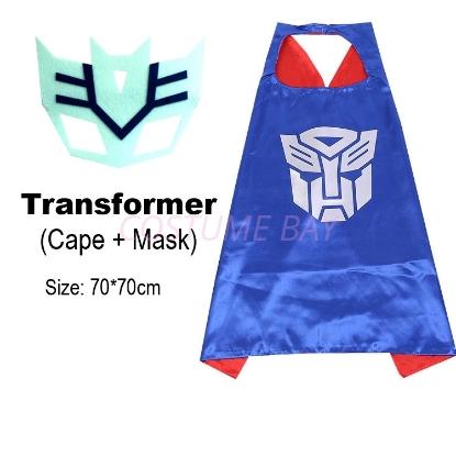 Picture of Kids PJ Superhero Cape &  Mask Set - Transformer