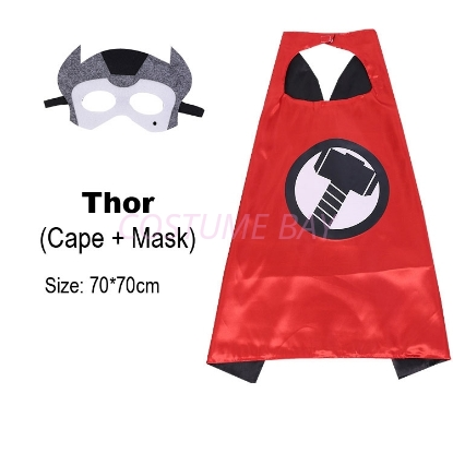 Picture of Kids PJ Superhero Cape &  Mask Set - Thor