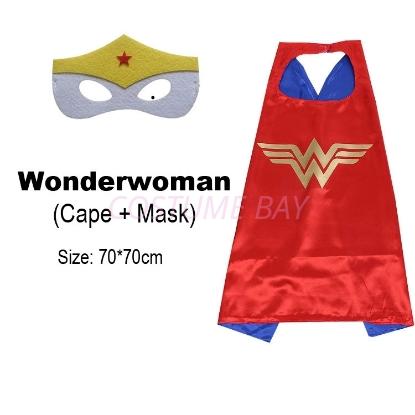 Picture of Kids PJ Superhero Cape &  Mask Set - Wonder woman