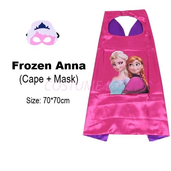 Picture of Kids PJ Superhero Cape &  Mask Set - Princess Anna