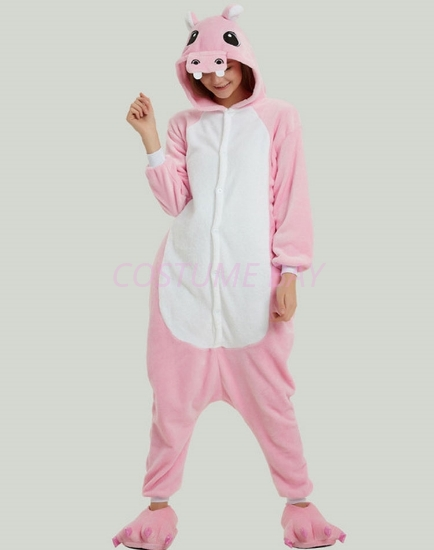 Picture of Pink Hippo Onesie