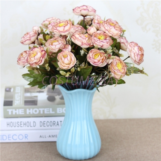 Picture of Bouquet 9 Heads 6 Branches Artificial Camellia