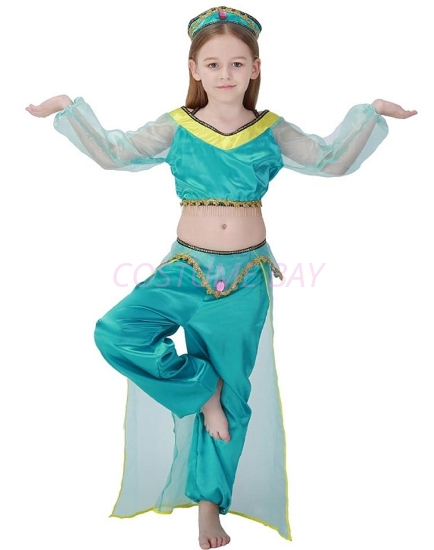Picture of Girls Princess Jasmine Arabian Belly Dancer Costume