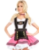 Picture of Ladies Oktoberfest Bavarian Beer Maid Wench Fancy Dress Costume - Pink