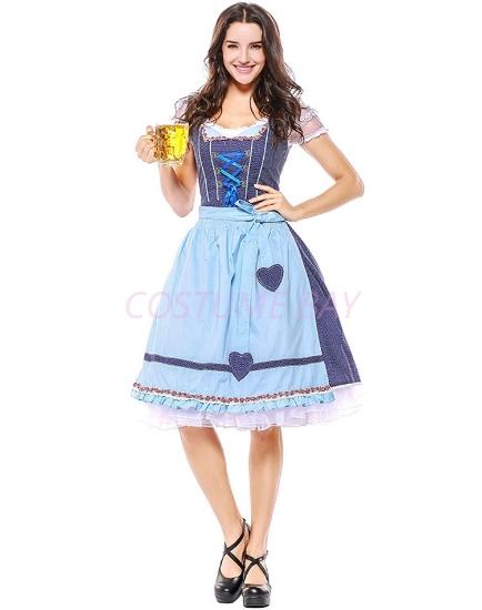 Picture of Ladies Oktoberfest Bavarian Beer Maid Costume NEW ARRIVAL