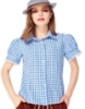 Picture of Ladies Oktoberfest Bavarian Beer Maid Shirt - Blue