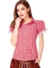 Picture of Ladies Oktoberfest Bavarian Beer Maid Shirt - Red