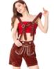 Picture of Ladies Oktoberfest Bavarian Beer Maid Short - Brown