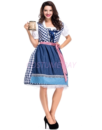 Picture of Ladies Oktoberfest Beer Wench Maid Costume NEW ARRIVAL