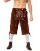 Picture of Bavarian Guy Mens Lederhosen Shorts - Brown