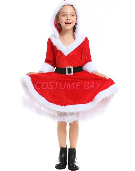 Picture of Little Miss Santa Girls Christmas Costume