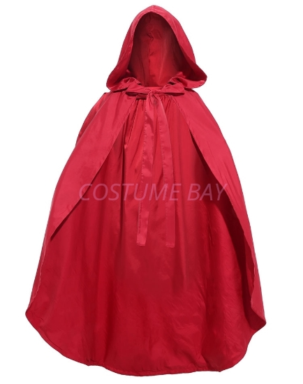 Picture of Womens Girls Little Red Riding Hood Cape for Book Week