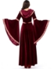 Picture of Womens Medieval Gothic Renaissance Burgundy Gown Costume