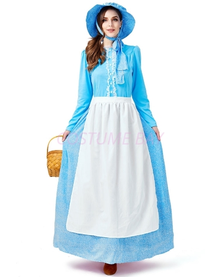 Picture of Womens Victorian Pioneer Historical Colonial Dress