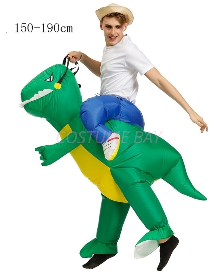 Picture of Fan Operated Inflatable Dinosaur Costume Suit for Kids and Adults