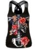 Picture of Womens Halloween 3D Skull Skeleton Print Vest