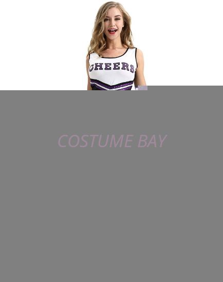 Picture of Cheerleader Costume with Pom Pom - Black