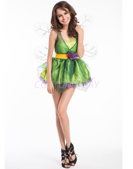 Picture of Ladies Butterfly Tinkerbell Green Fairy Costume
