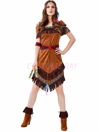 Picture of Sexy Wild West Indian Pocahontas Womens Costume